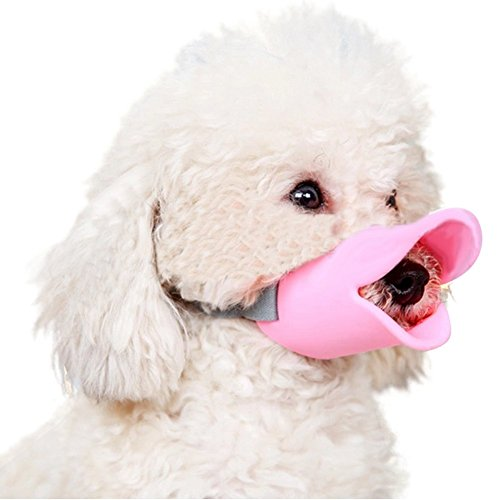 NACOCO Anti Bite Duck Mouth Shape Dog Mouth Covers Anti-Called Muzzle Masks Pet Mouth Set Bite-Proof (Pink, M) ()