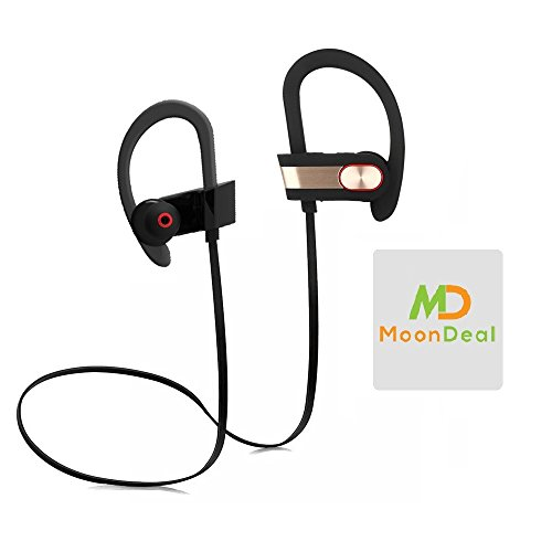Wireless Sport Bluetooth Headset, Lightweight, Sweatproof, EarHook, for Running, Talking & Listening for BLU Studio 5.0 II PLUS GIFT [Protective Hard Carry Case&Screen Cleaner] - - Free Nokia 635 Case Shipping