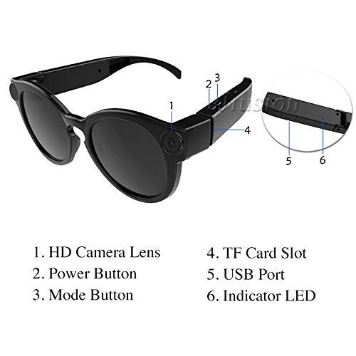 Camara Espia Mini Camara Gafas De Moda Port/átil Inteligente Mini C/ámara WiFi Video Digital Grabador De Audio Pantalla Gafas De Sol Exterior Micro IP Videoc/ámara