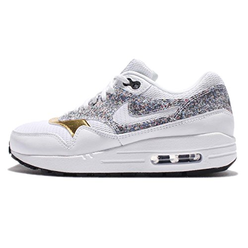 Nike Womens Air Max 1 SE Running Trainers 881101 Sneakers Shoes (US 5.5, White Black 100)