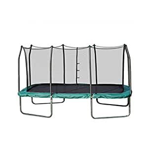 Skywalker Trampolines 14-Foot Rectangle Trampoline with Enclosure Net – Shape Provides Great Bounce – Gymnast Trampoline – Added Safety Features – Meets or Exceeds ASTM – Made to Last