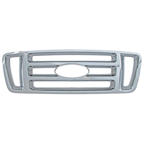 Bully  GI-18 Triple Chrome Plated ABS Snap-in Bar Style Imposter Grille Overlay, 1 Piece - Grille Overlay 4 Piece
