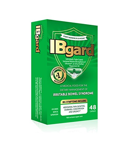 IBgard Irritable Bowel Syndrome Capsules, 48 Capsules Per Box (8 Boxes) by IBgard