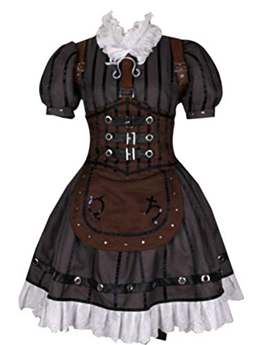 ZYHCOS Women's Alice Steam Maid Dress Halloween Cosplay