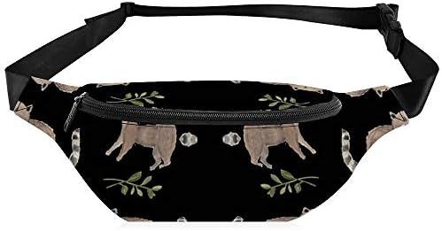 水彩アライグマ ウエストバッグ ショルダーバッグチェストバッグ ヒップバッグ 多機能 防水 軽量 スポーツアウトドアクロスボディバッグユニセックスピクニック小旅行