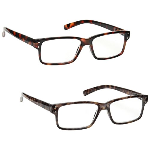 The Reading Glasses Company Brown & Grey Tortoiseshell Readers Value 2 Pack Mens Womens RR45-27 +3.50 (Glass Sight Plastic)