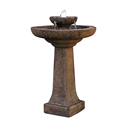 Heneri Studio 2 Piece Aquarius Fountain, Relic Lava