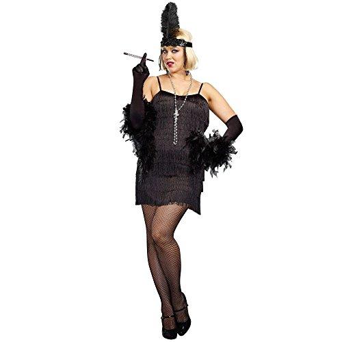 Flapper Adult Costume Black - Plus Size 3X/4X