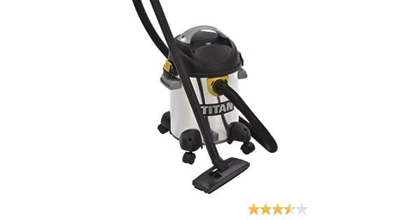 Titan – IPX44 Pro – Aspirador sin bolsa para agua y polvo, con accesorios, 1400 W, 20 l, especial para obras: Amazon.es: Grandes electrodomésticos
