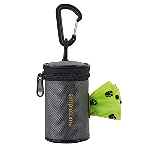 simpletome Dog Waste Bag Dispenser for Leash Belt Waterproof 1680D Oxford YKK Zipper 3