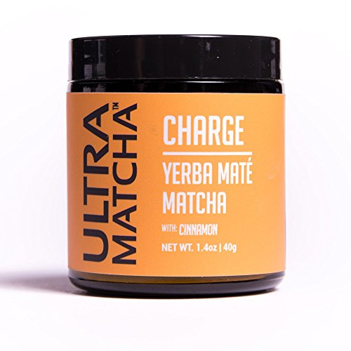 Ultra Matcha Charge Yerba Mate Matcha - Cinnamon - 40g Jar Green Tea