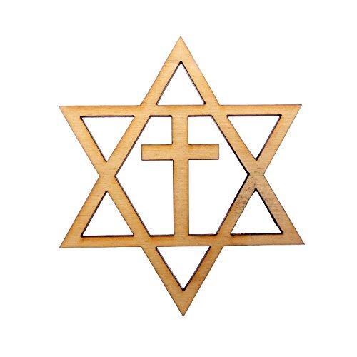 Jewish Star Of David Engraving - Star of David With Cross Ornament - Hanukkah Ornament - Hanukkah Gift - Hanukkah Decoration - Chanukah Gift