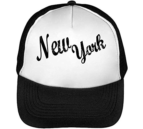 Beisbol Hombre Gorras New Snapback Blanco Fashioned York Negro qPnpT