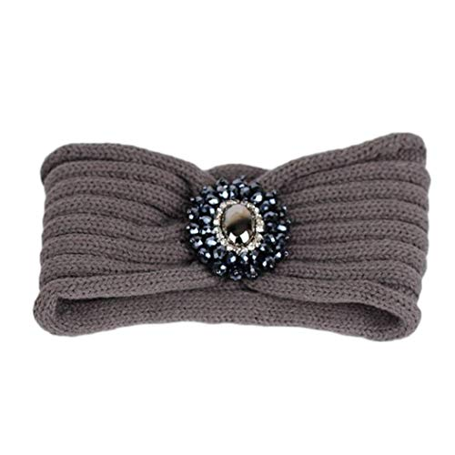 Meflying Women Casual Solid Plastic Gem Headband Wool, used for sale  Delivered anywhere in USA