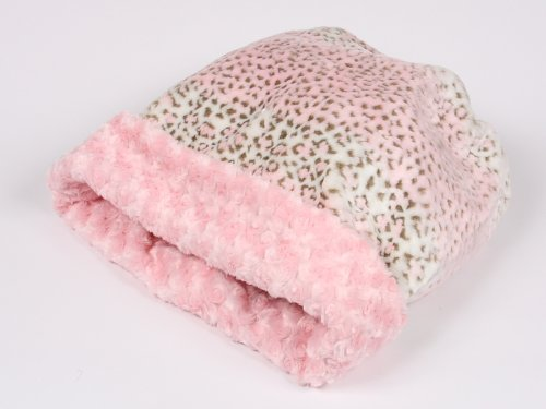 Pink Leopard and Curly Sue Cuddle Cup Bed for Dogs by Susan Lanci, My Pet Supplies