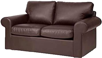 The Ektorp Loveseat Cover Replacement is Custom Made for IKEA Ektorp Loveseat Sofa Cover, Sofa Cover Only! (PU Leather Brown)