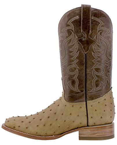 Quill Sand Square Toe Design Texas Boots Ostrich Men's Legacy Cowboy Leather TnRxpw1tpq