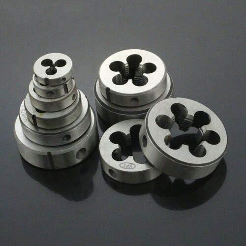 FidgetKute Alloy Steel Round Threading Dies Metric M1 M2 M2.5 M3 M4 M5 M6 M8 M10 M12 M20 M101.5 5PCS by FidgetKute