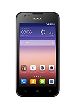 Huawei Ascend Y550 UK SIM-Free Smartphone - Black (4G, 4 5-inch, 1 2 GHz  quad core, 5MP and 2MP cameras, Android 4 4, 4 GB Storage + MicroSD)