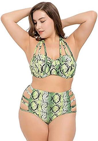 Qu-Hsrkocb 2019 Bikini Mujer Dos Piezas Estampado Falda Serpiente ...