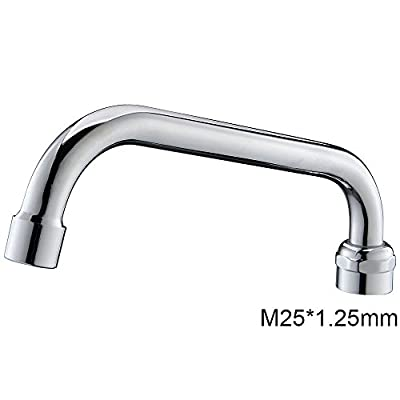 MSTJRY Double Handle Commercial Kitchen Faucet with Pull Down Sprayer