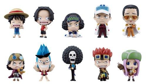 Bandai Tamashii Nations One Piece Deform Master Petite Toy Figures, Set of 10, Volume#3 (One Figure Piece World Mini)
