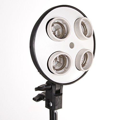 Fotga 4 Socket E27 Lamp Bulb Head Photo Video Studio Light Umbrella Bracket Holder by FOTGA