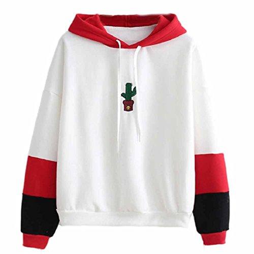 GONKOMA Womens Long Sleeve Hoodie Sweatshirt Jumper Hooded Pullover Tops Blouse