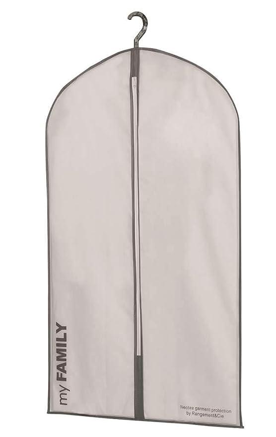 Compactor Set de 3 | Bolsas para Trajes Neotex-60xH 100 cm-NW 0,100 Kg | con una Ventana de EVA, Blanco, Pequeño