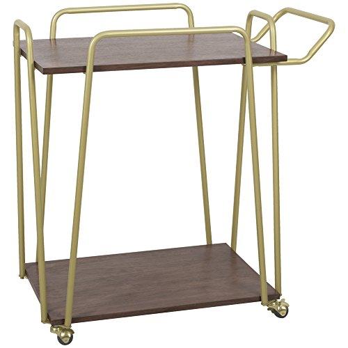 Silverwood FS1220-SGD Emory 2-Tier Hairpin Bar Cart, 17.5'' L x 30'' W x 30.5'' H by Silverwood
