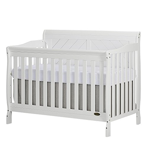 Dream On Me Ashton Full Panel Convertible 5 in 1 Crib in White