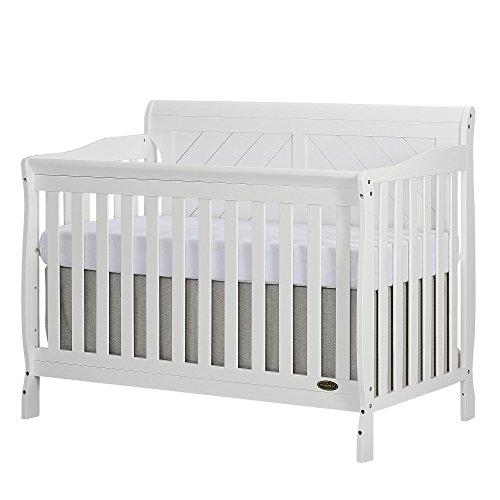 Dream On Me Ashton Full Panel Convertible 5 in 1 Crib in White ()
