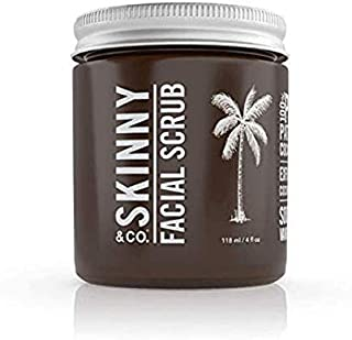 product image for SKINNY & CO. Vanilla Sugar Facial Scrub- 100% Raw All Natural Exfoliant Made with Coconut Oil and Vanilla, Gentle, Moisturizing & Energizing, Removes Dry Skin, Chemical Free, 4 oz. (Pack of 1)