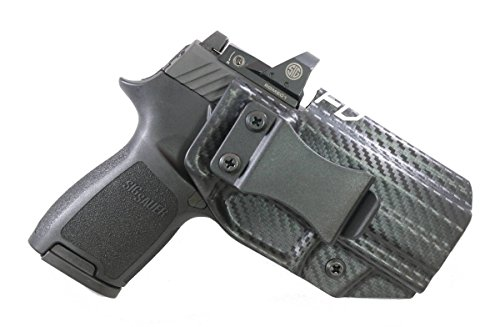 Fierce Defender IWB Kydex Holster Sig P320c RX w/Optic Cut The Winter Warrior Series -Made in USA- (Carbon Fiber)