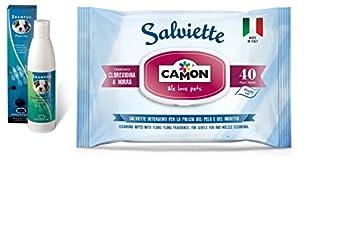 Shampoo igenizzante ingenya & Camon Toallitas Mirra y corexidina para perros