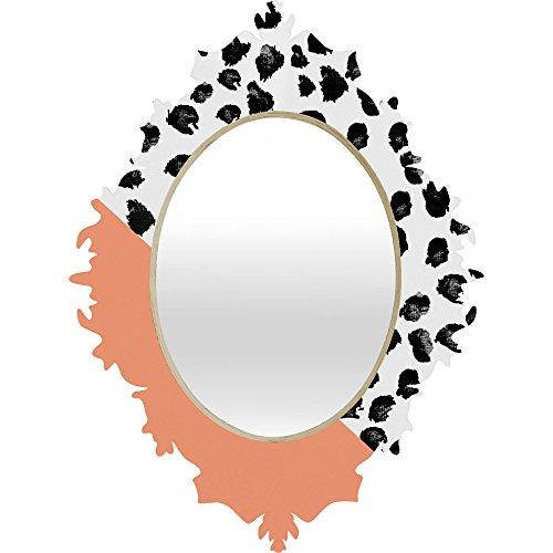 Deny Designs Rebecca Allen Animal and Peach Baroque Mirror, Medium by Deny Designs