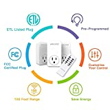 Remote Control Outlet Wireless Light Switch Power