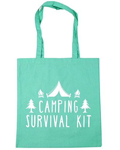 HippoWarehouse Camping Kit de supervivencia bolsa de la compra bolsa de playa 42cm x38cm, 10litros verde menta