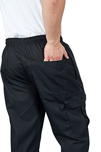 KNG Black Cargo Style Chef Pant, 4XL by KNG (Image #1)
