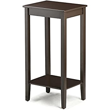 Topeakmart Tall Side Coffee End Table Solid Wood Nightstand Bedside Living Room Sofa