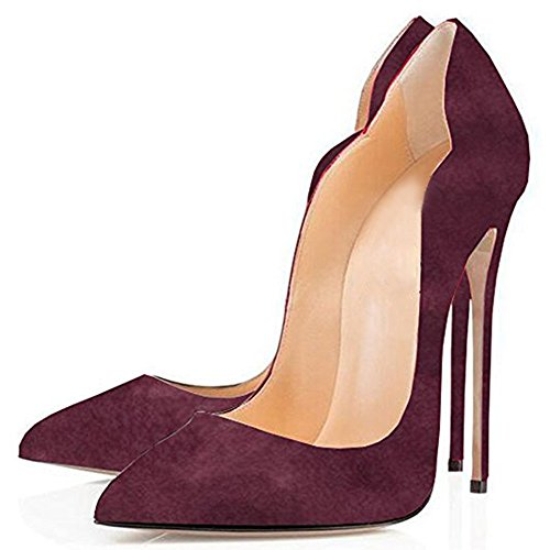 Wine suede Red con Zeppa Jushee Sandali donna wCIqI6Y
