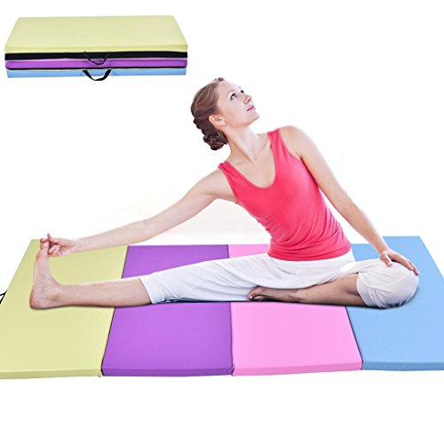 4x8x2-folding-gym-exercise-mat-yoga-stretching-pu-leather-multi-color