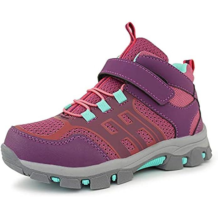 Hawkwell Kids' Outdoor Mid Hiking Boots Trekking Walking Shoes(Little Kid/Big Kid)