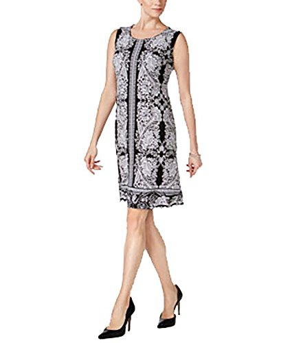 Embellished Sheath (JM Collection Petite Embellished Sheath Dress (White Ornate Garden, PL/Petite Large))