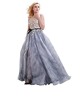 Amazon.com: Finove Smoky Gray Prom Dresses Gowns for Party
