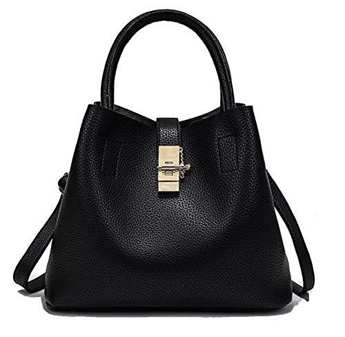 BUTBS182162 Borse a AmoonyFashion Pu Donna Nero tracolla Buckle Bags Fashion SZ8XSw