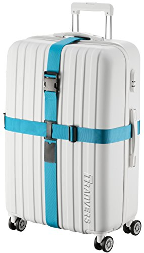 TRANVERS Cross Luggage Straps For Suitcase Plus Luggage ID Slot Heavy Duty Adjustable