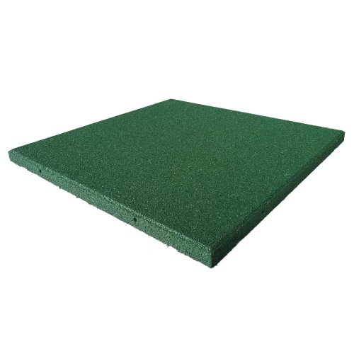 Rubber-Cal Eco-Sport Interlocking Tile-Pack of 5, Green, 3/4