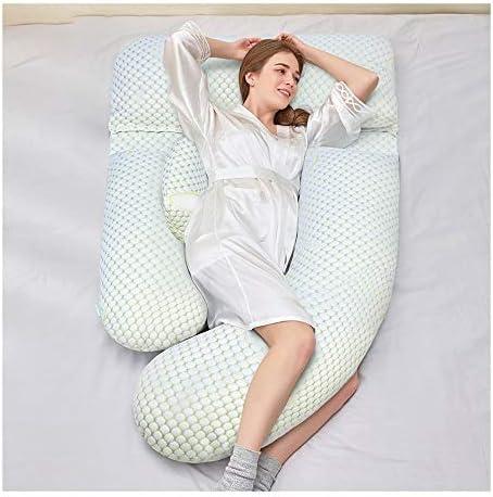 ボーイフレンド枕 サイド睡眠のためのプレミアム妊娠枕U字型トータルボディ妊娠ラップアラウンドウルトラ支援的睡眠枕マタニティ枕 抱き枕 (Color : White)