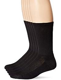 Men's Crew Socks (Sneaker Size 6-12, Black)